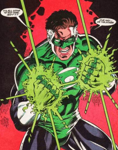 Hal enlouquece e mata os lanternas para pegar seus aneis