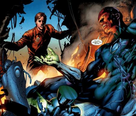 Hal Jordan encontra Abin Sur